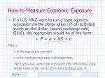 how to measure economic exposure1