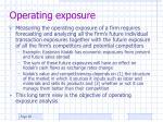 operating exposure1