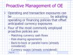 proactive management of oe