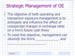 strategic management of oe