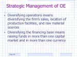 strategic management of oe1