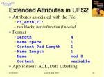 extended attributes in ufs2