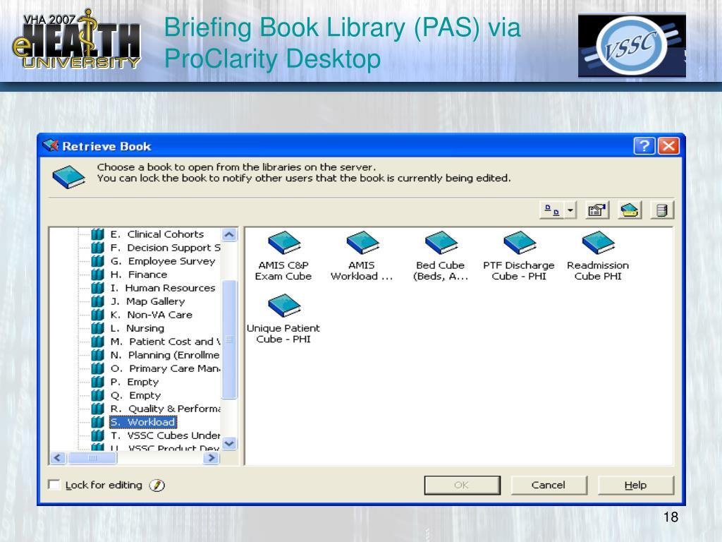 Briefing Book Library (PAS) via