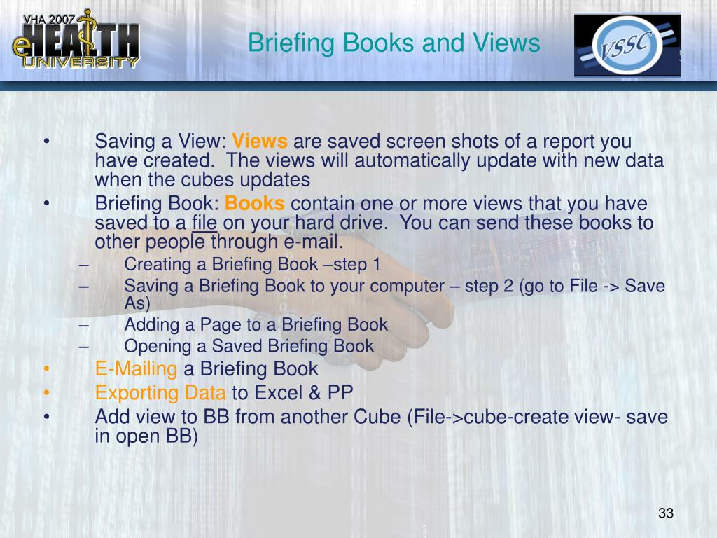 Briefing Books and Views