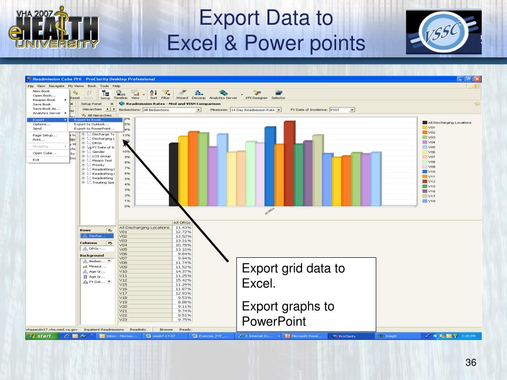 Export Data to