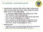 loopback communication