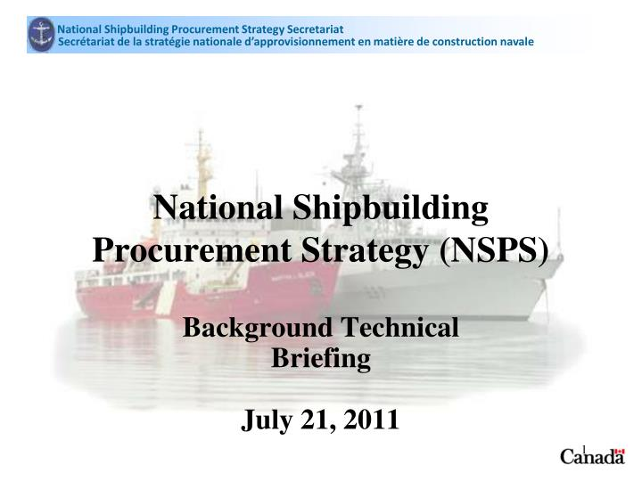 national shipbuilding procurement strategy nsps n.