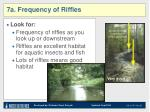 7a frequency of riffles