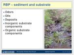 rbp sediment and substrate