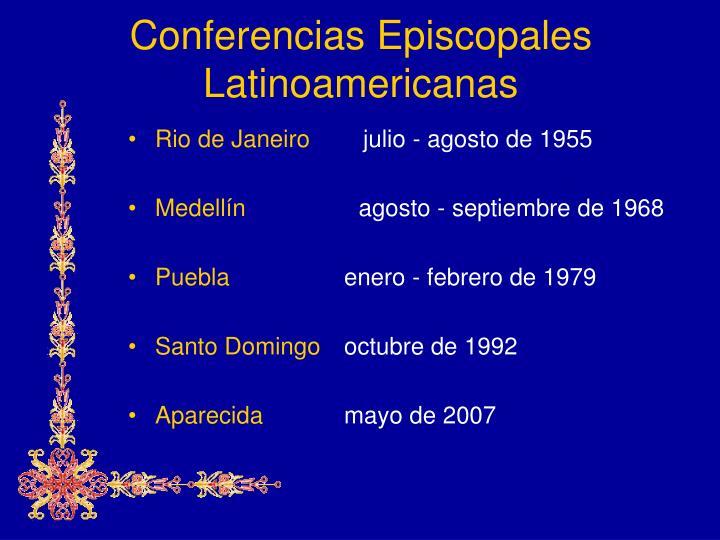 Conferencias episcopales latinoamericanas