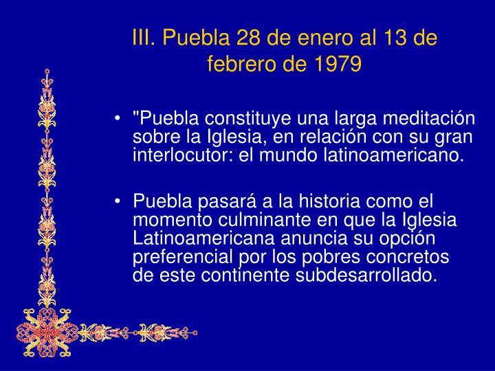 III. Puebla
