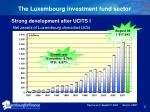 the luxembourg investment fund sector
