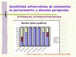 sensibilidad antimicrobiana de aislamientos en pericoronaritis y abscesos periapicales2
