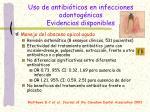 uso de antibi ticos en infecciones odontog nicas evidencias disponibles