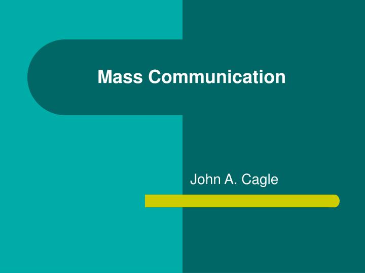 mass communication n.