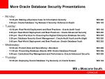 more oracle database security presentations