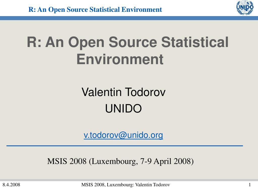 R: An Open Source Statistical Environment
