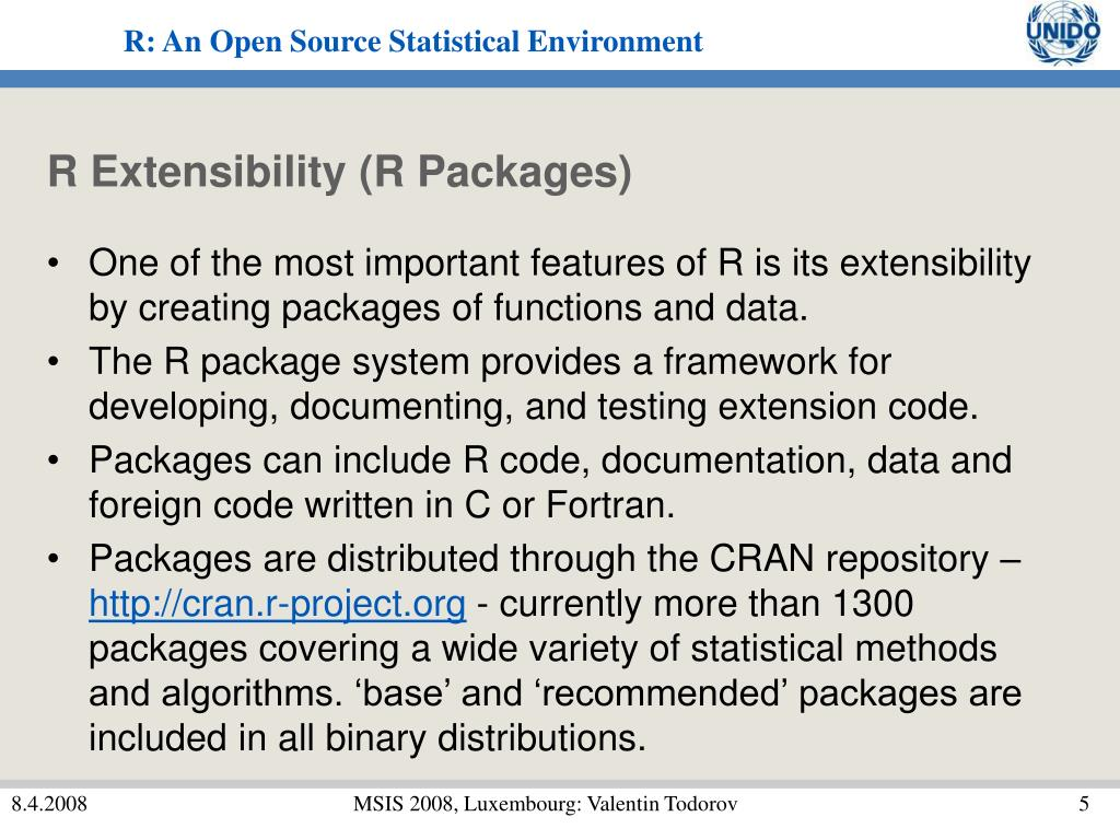 R Extensibility (R Packages)