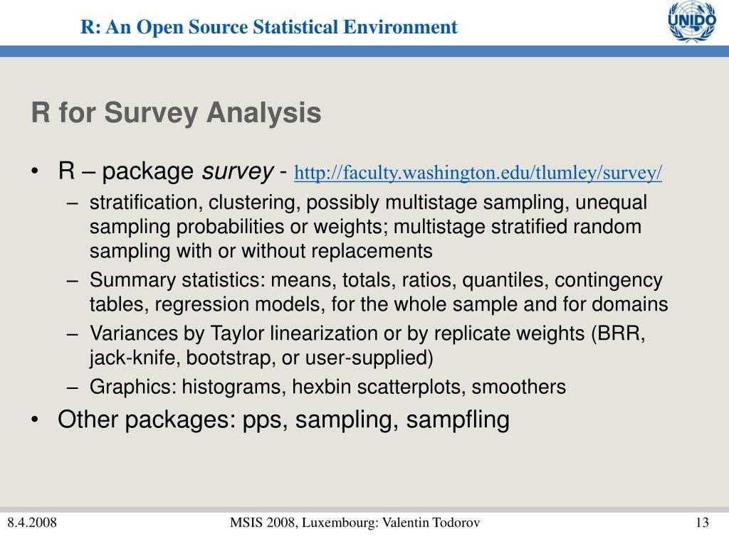 R for Survey Analysis