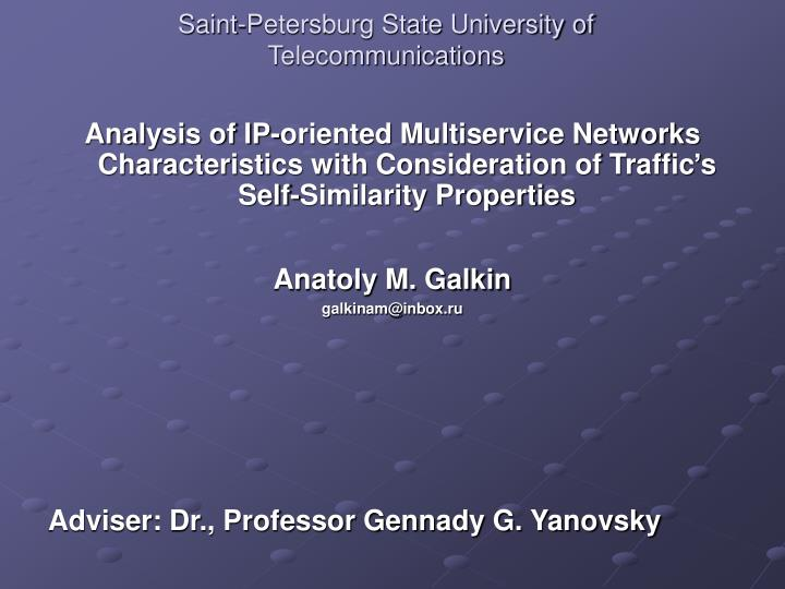 saint petersburg state university of telecommunications n.