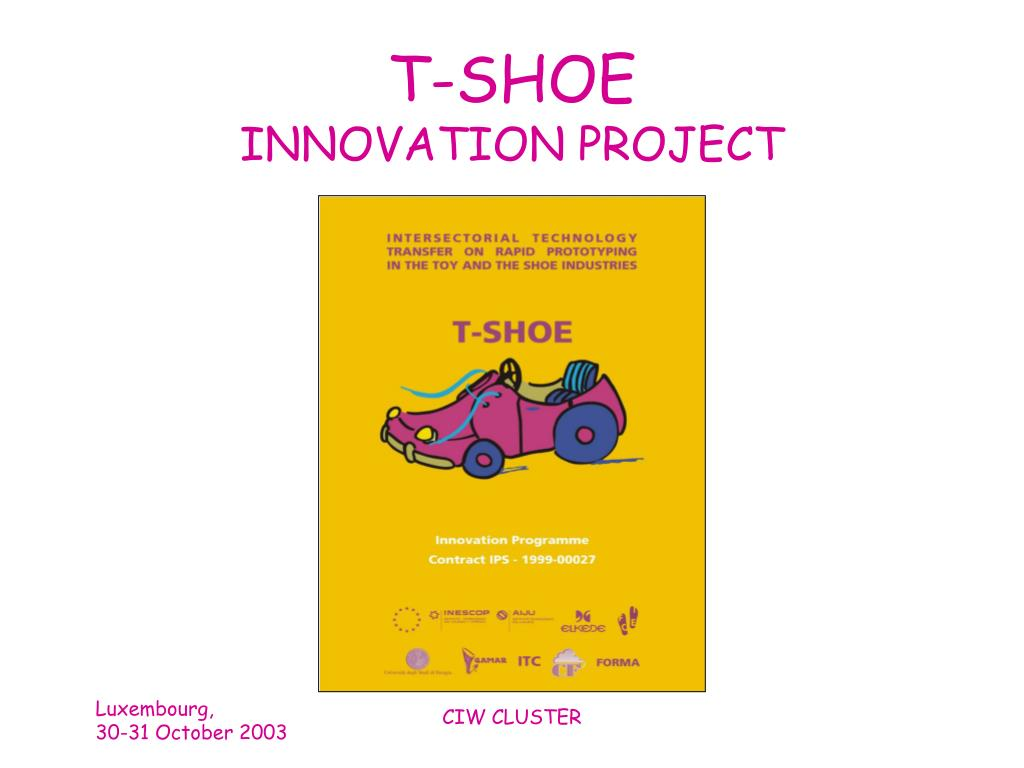 t shoe innovation project l.