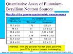 quantitative assay of plutonium beryllium neutron sources14