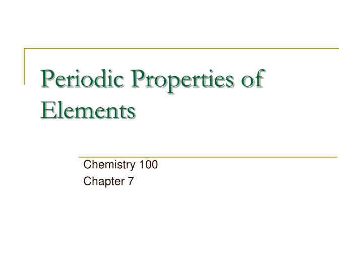 periodic properties of elements n.
