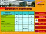 preuves et coefficients