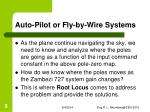 auto pilot or fly by wire systems4