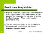 root locus analysis intro1