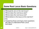 some root locus basic questions