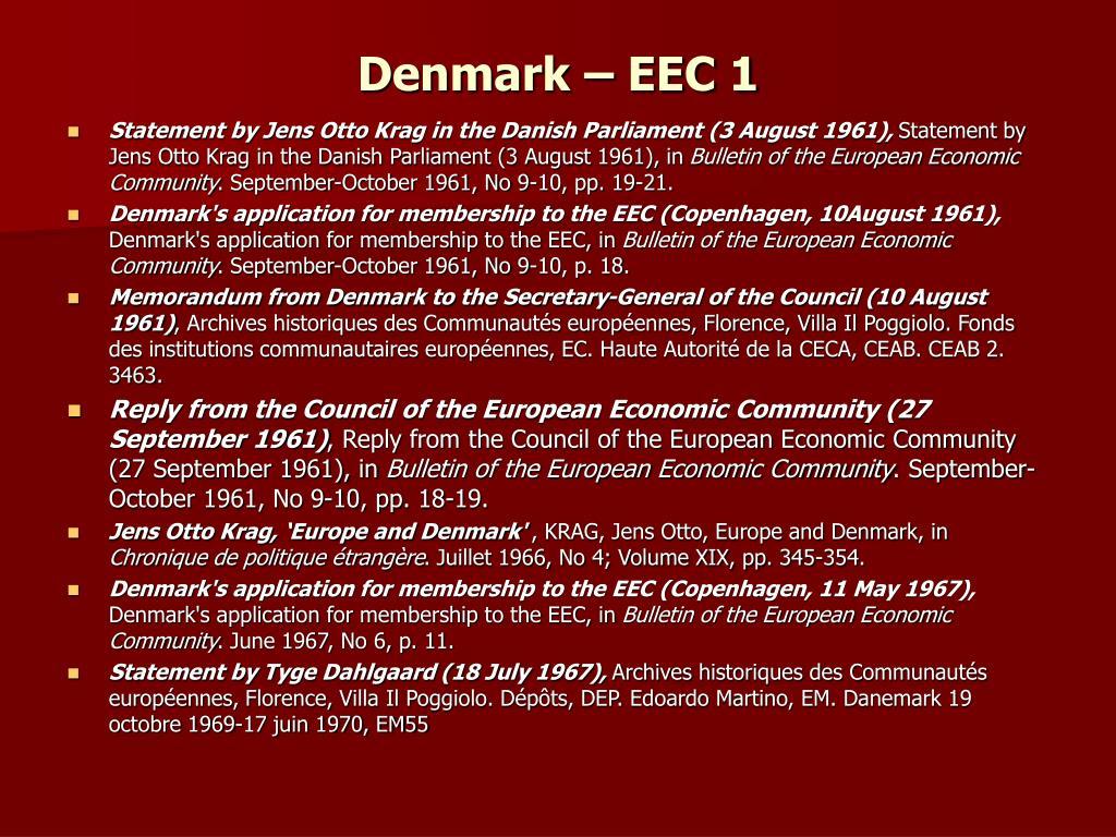 Denmark – EEC 1