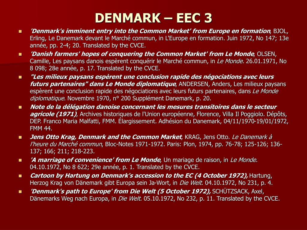 DENMARK – EEC 3