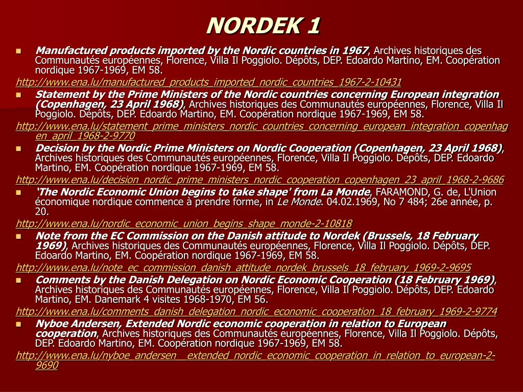 NORDEK 1
