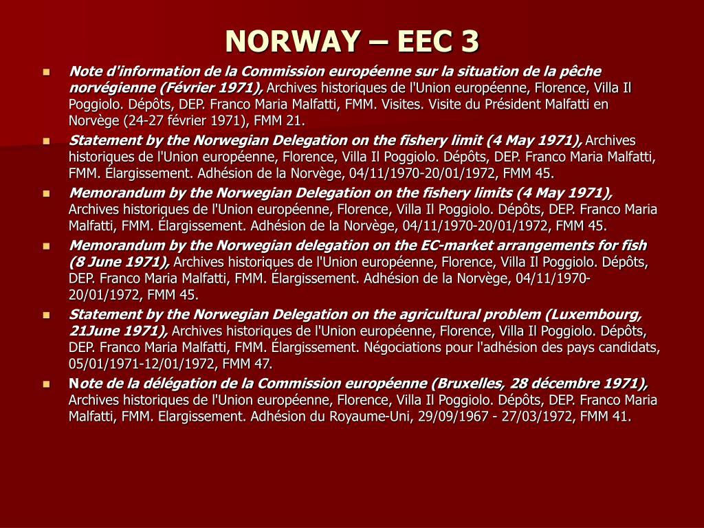NORWAY – EEC 3