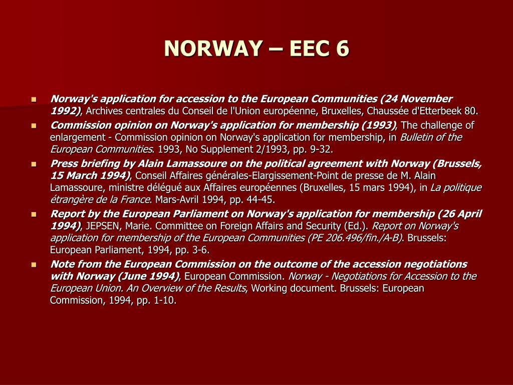 NORWAY – EEC 6