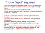 home depot argument