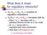 what does it mean for regulatory networks