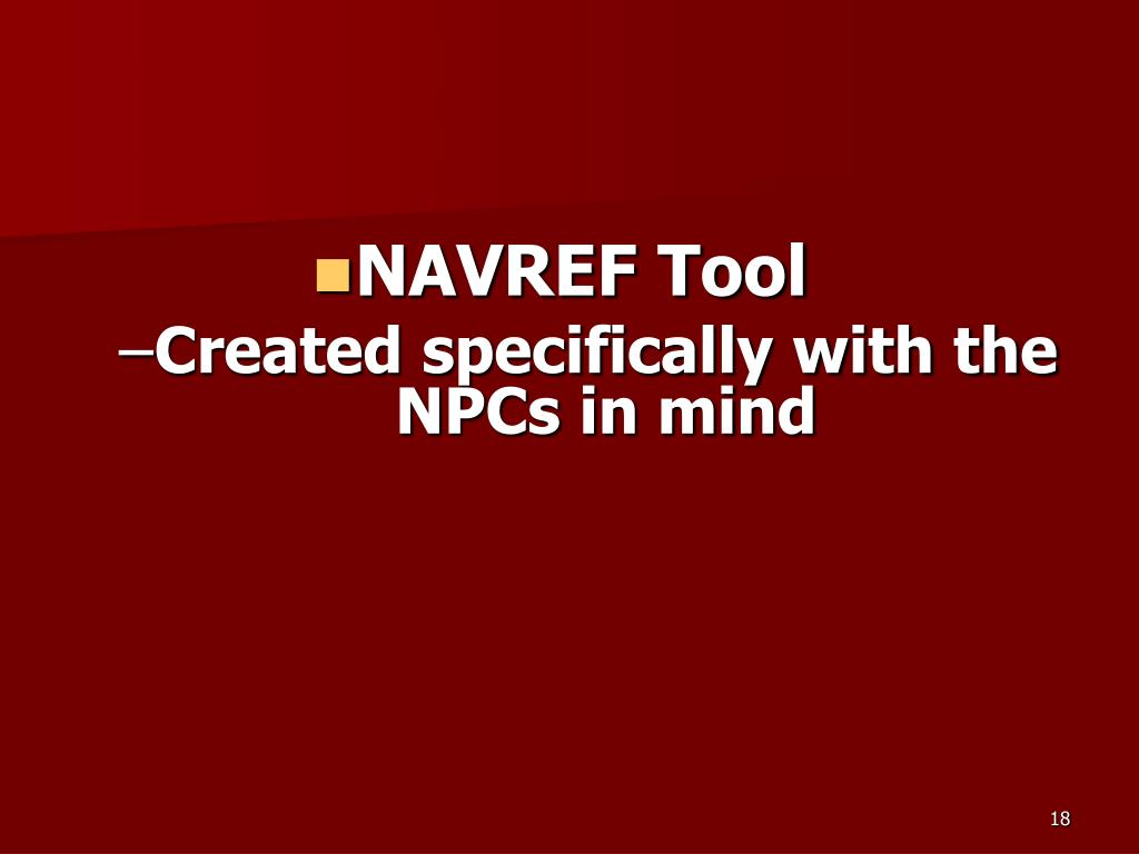 NAVREF Tool