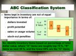 abc classification system