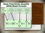 basic fixed order quantity eoq model formula