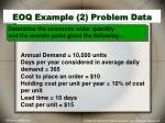 eoq example 2 problem data