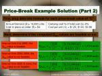 price break example solution part 2