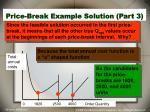 price break example solution part 3