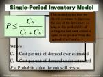 single period inventory model