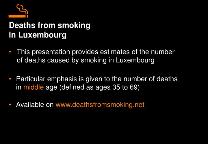 Deaths from smoking in luxembourg