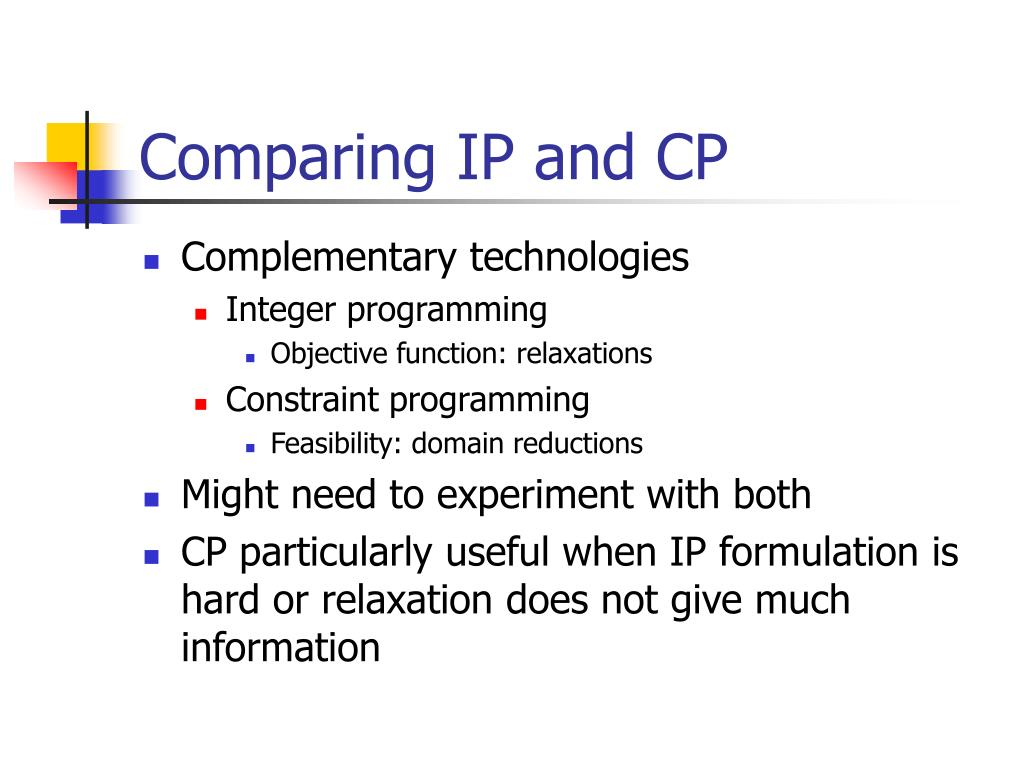 Comparing IP and CP
