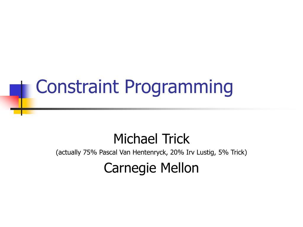 constraint programming l.