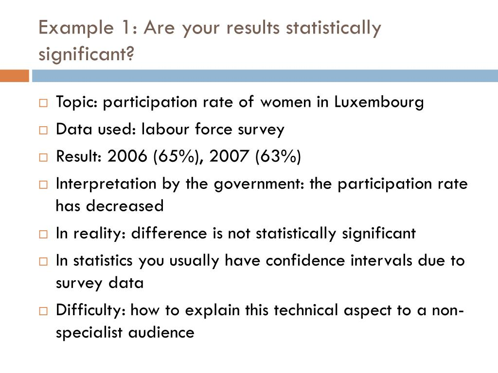 Example 1: Are your results statistically significant?