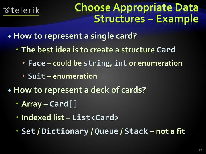Choose Appropriate Data Structures – Example